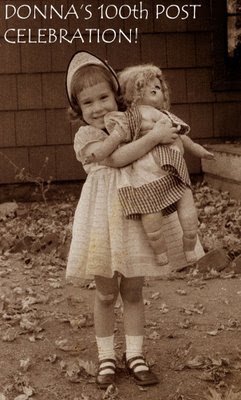 little Donna and a HUGE doll