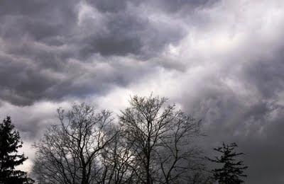 digitally enhanced stormy sky