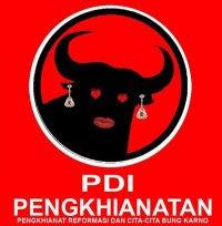 Plesetan Logo Partai PDI - Perjuangan Menjadi PDI - Pengkhianatan