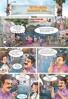 Komik Kampanye Damai Pemilu Indonesia - halaman 1
