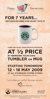 StarBuck Coffee 7th Anniversary