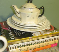 Tea Books in Kitchen