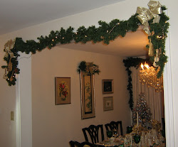 Doorway to Dining Room with Garlands