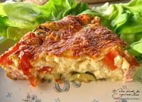Clafouti tomate courgette jambon