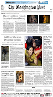 Front page of The Washington Post, 11/30/08