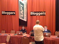Bloggers station at LAPT Lima