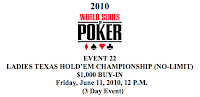 Event No. 22, Ladies Hold'em Championship