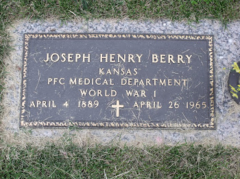 My Grandfather, Joseph H. Berry served in the Army during WWI