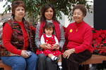 And here are the four generations looking good in red!