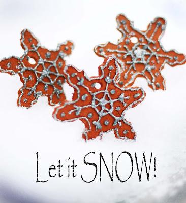 cinnamon glue ornament snowflake