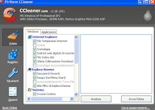 CCLEANER GRATIS ITALIANO PER WINDOWS 7