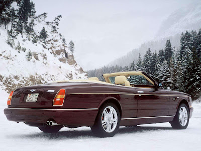 Bentley Azure in the Snow
