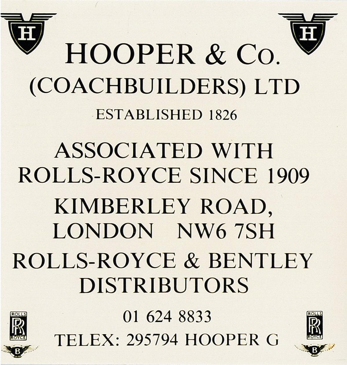 Bentley Hooper Turbo