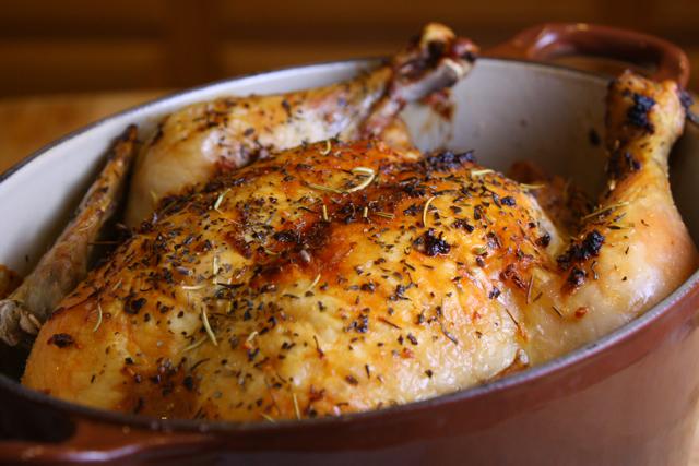 Whole Roasted Garlic Lemon Chicken | Liv Life