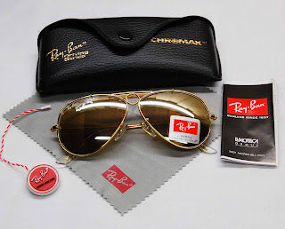 [WTS] Ray-Ban® Sunglasses Shooter+3138+Gold+Brown+mirror