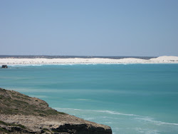 White sand at the head of the bight