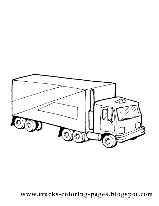 More Trucks Coloring Pages title=
