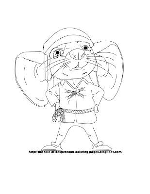 despereaux coloring pages - photo#6