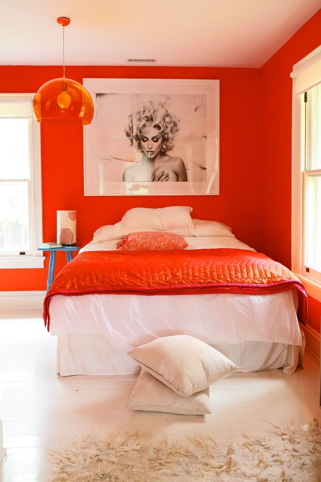 light orange bedroom bright orange walls in a