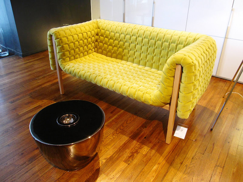 Green modern sofa from Ligne Roset