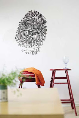 Finger print wall sticker from Ferm Living