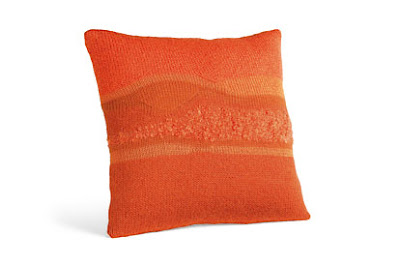 Orange merino wool and mohair pillow from Room & Board
