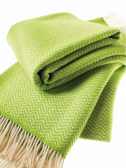 Lime green throw from Missoni Home