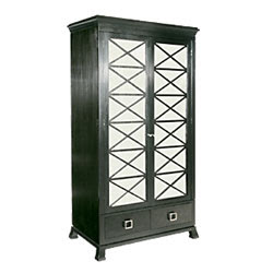 Black armoire with mirrored doors from HW Home