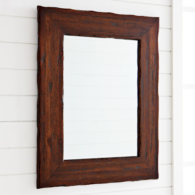Rustic wood mirror from West Elm