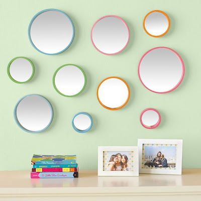 PB Teen - Bubble Dot Mirror Set - $69 (Five mirrors per set.