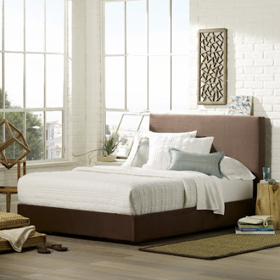 Upholstered queen bed from West Elm