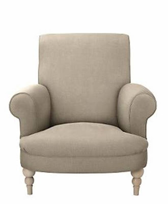 Traditional fitted upholstered armchair with high rolled back and arms from The Conran Shop