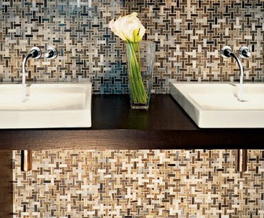 COCOCOZY: TILE FILE: HIGH STYLE GLASS MOSAICS PERFECT FOR THE BATH ...