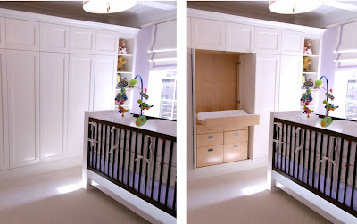 New York City nursery with a space saving solution from  Area Interior Design