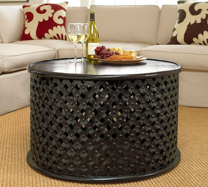 Pottery Barn Wood African Coffee Table Bamileke