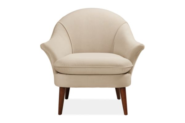 Off white upholstered accent chair from Room & Board