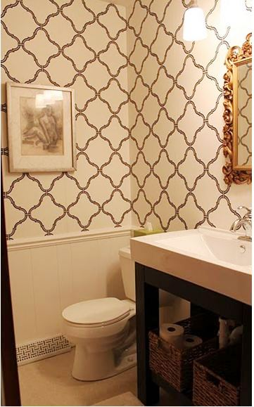 Cococozy bath week reader submissions bathroom for Best wallpaper for bathrooms