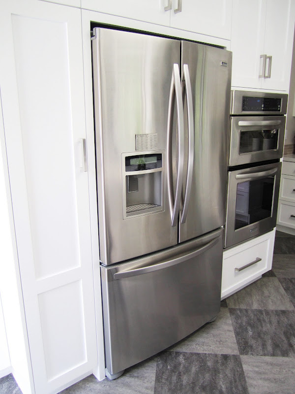 Stainless appliances in a modern kitchen