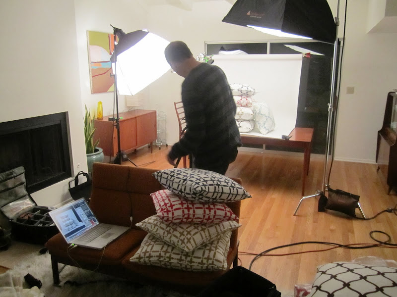 COCOCOZY pillow photo shoot