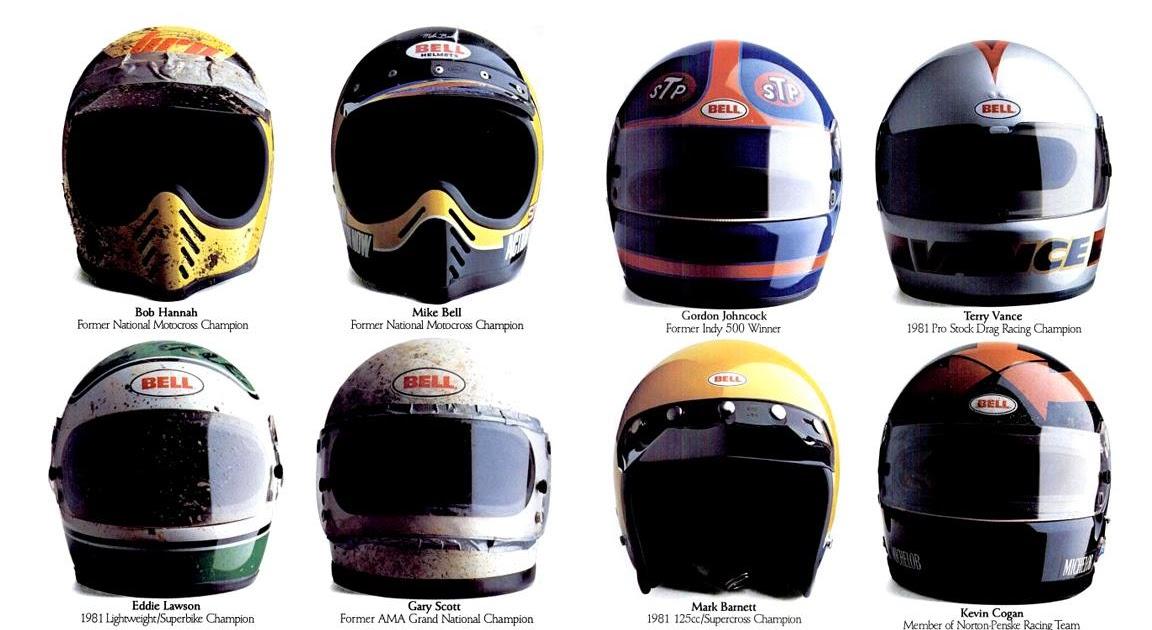 Racing helmets garage vintage brochures bell 2 for Garage significato