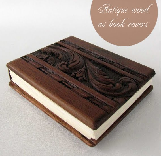 Wood Covered Book ~ Artnlight wooden book covers by lacuna works