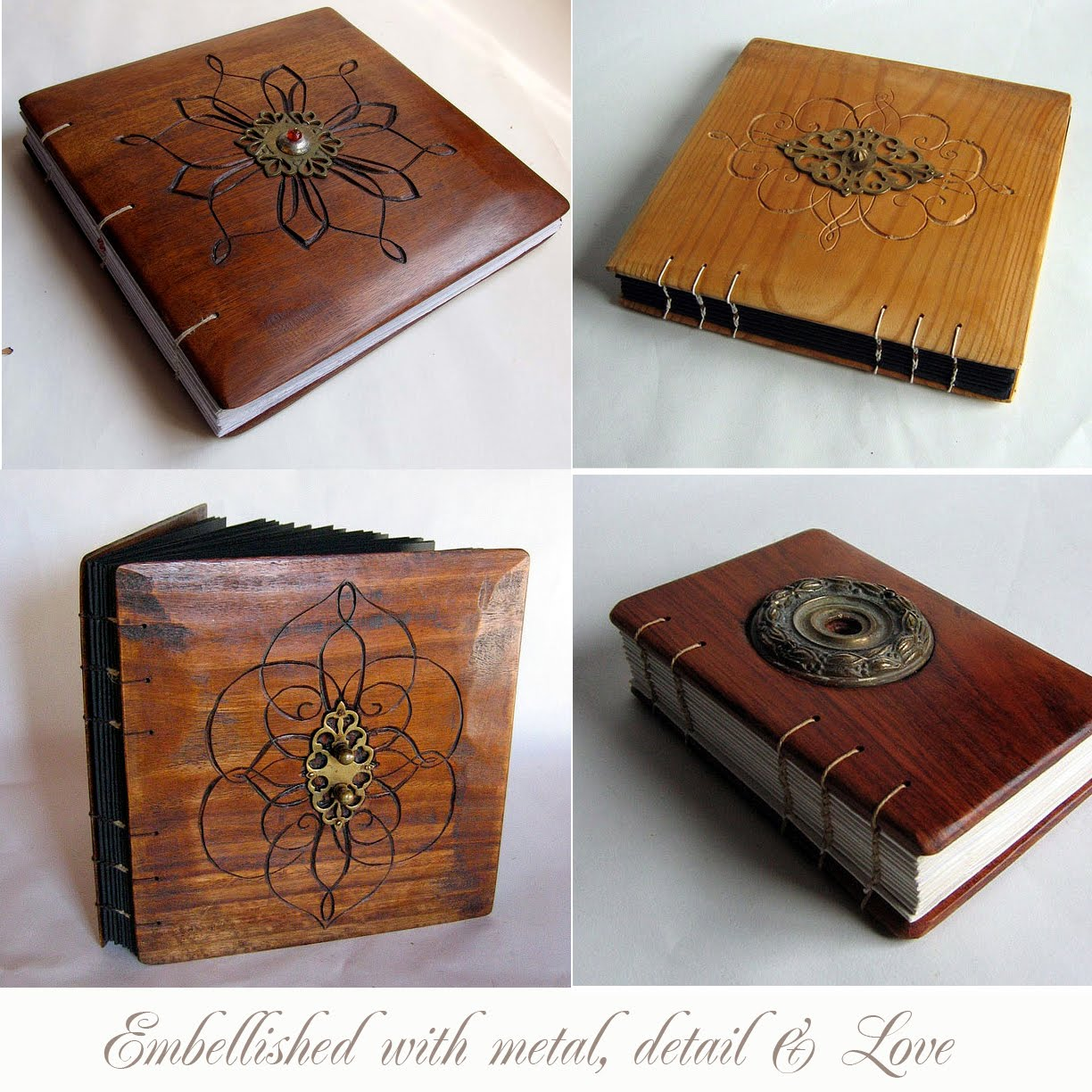 Wood Cover Cookbook : Artnlight wooden book covers by lacuna works