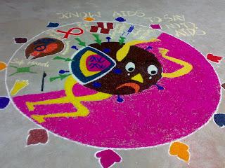 Rangoli Competition At AV Medical CollegePondicherry