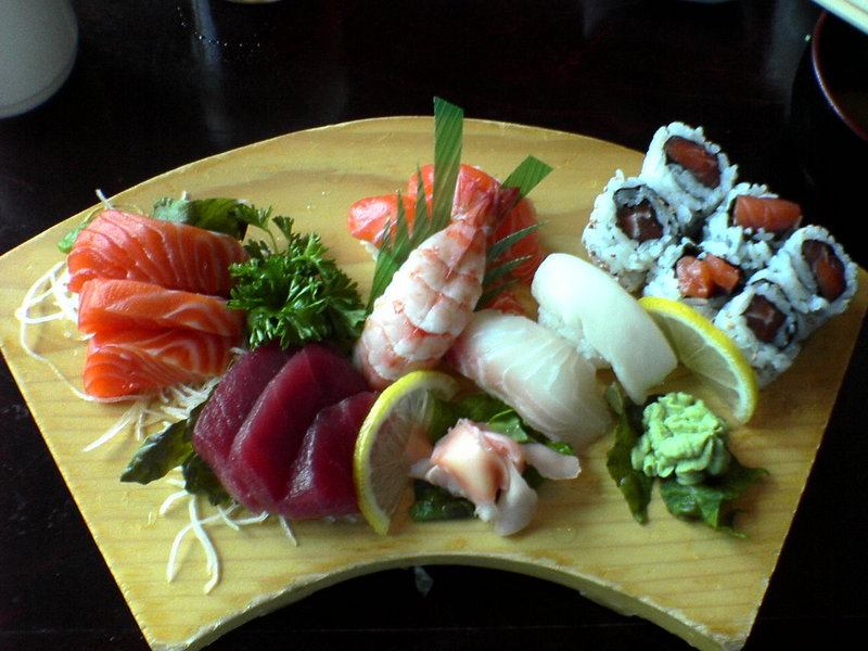 Different types of sushi japanese food for Asian cuisine ingredients