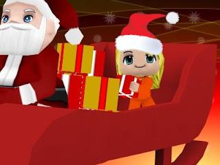 Senza Panna  porta i regali  con Babbo Natale