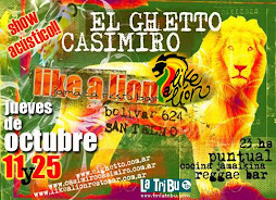 Flayer de Casimiro y El Ghetto (2007)