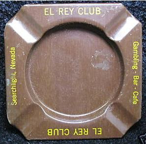El Rey Club Tin Ashtray