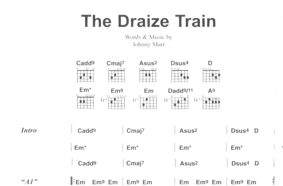 Smiths On Guitar The Draize Train