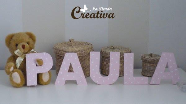 La tienda creativa letras para decorar y mucho m s letras de madera infantiles - Letras para paredes infantiles ...
