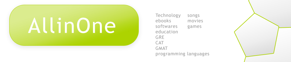 ALL IN ONE- Technology, ebooks, softwares, education, GRE, CAT, GMAT, programing languages